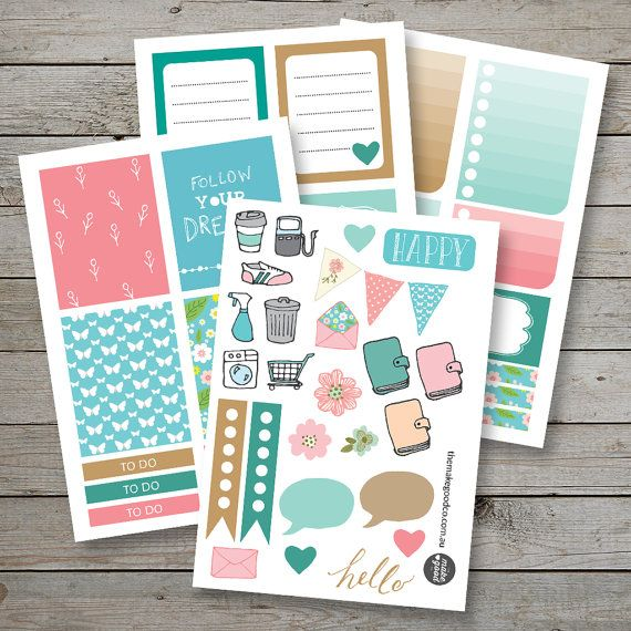 Printable Planner stickers / Erin Condren Filofax Happy