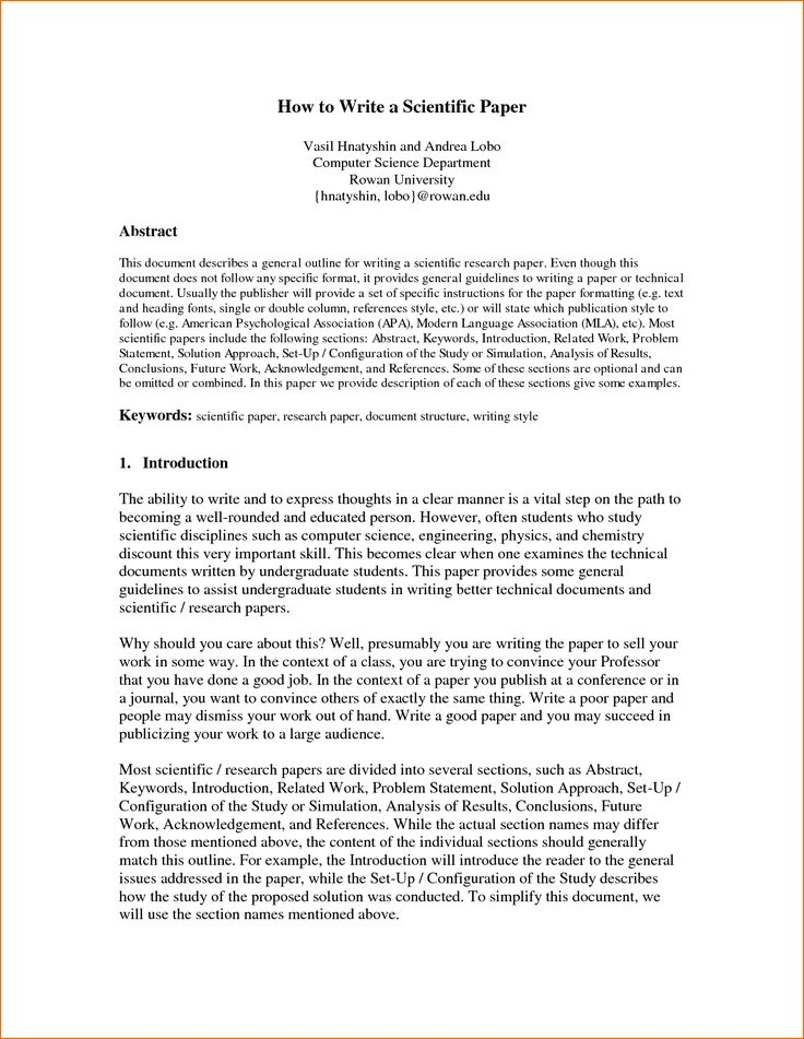 Scientific Paper Abstract Example  Ex