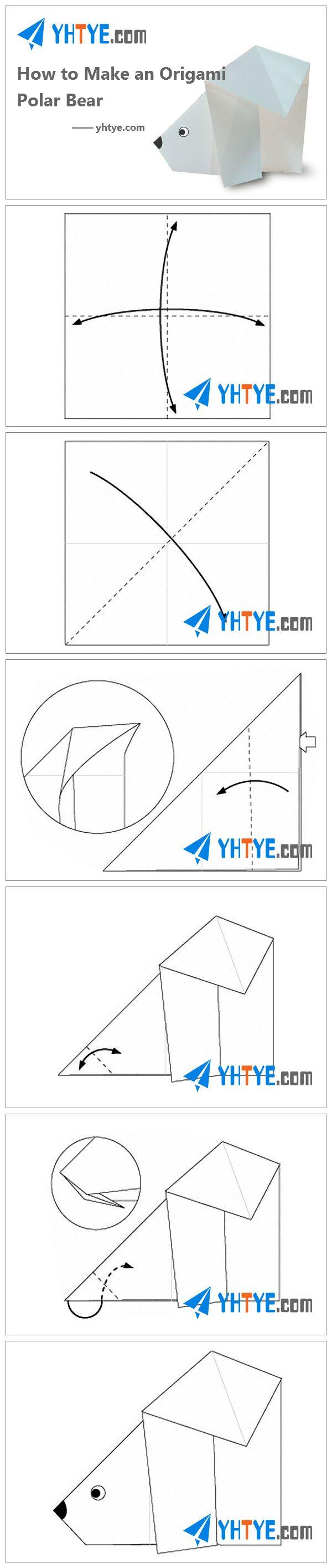 How to Make an Origami Polar Bear