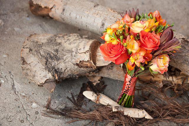 Autumn bridal bouquet - buchet mireasa de toamna by SaraCreations, via Flickr