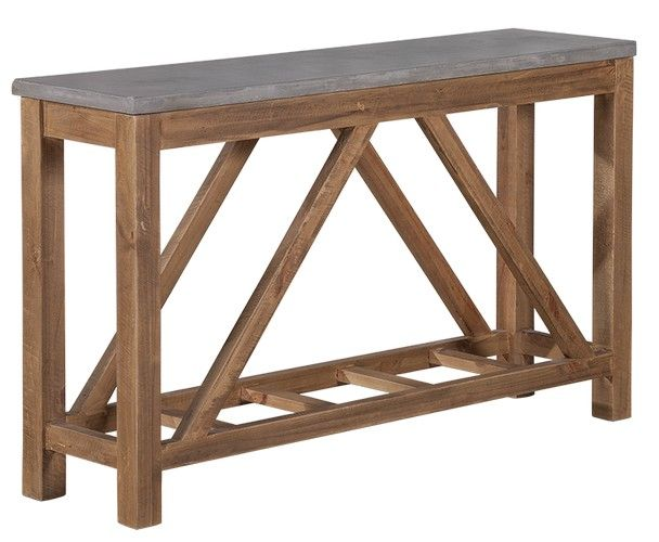 Vintage Industrial Hall Table (1400W x 350D x 800H mm) RRP $449