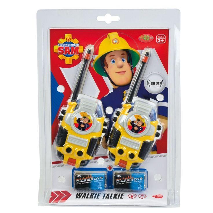 Er is Brand! Brandweerman Sam komt er aan! Over en uit!  Met deze Walkie Talkie ben je snel op de hoogte en sta je in contact met je vrienden.
