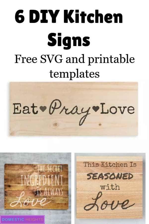 Easy Diy Kitchen Signs Kitchen Wall Decor Ideas Kitchen Signs
