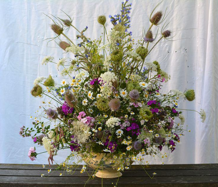 Des fleurs de carottes sauvages pour garnir une soupi re c 39 est festif bouquet cr par - Bouquet de fleurs sauvages ...