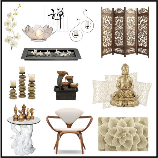 """Home decor inspiration - Zen"" by cocolavieenrose on Polyvore"