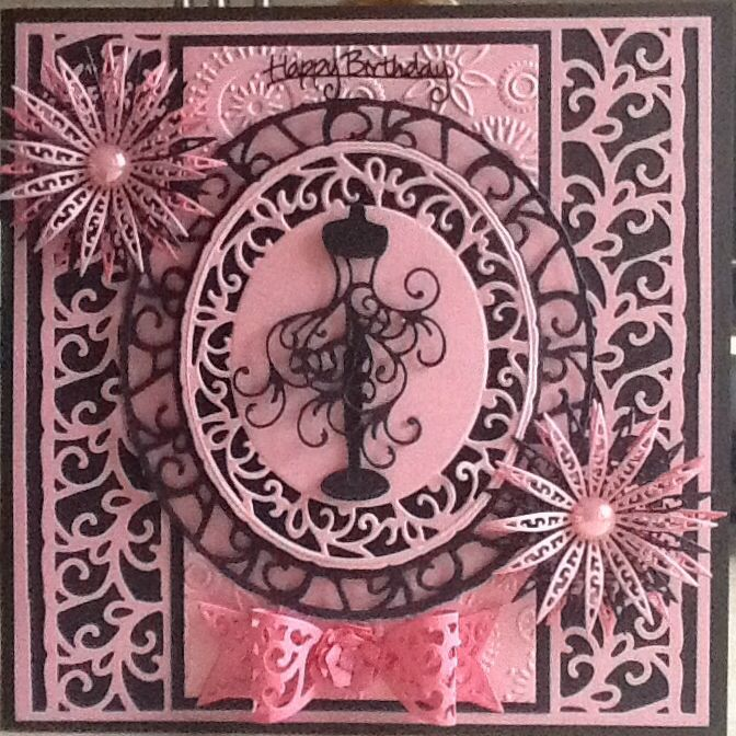 Tonic and tattered lace card
