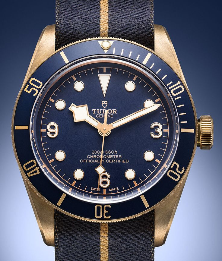 Tudor Heritage Black Bay Bronze Blue Watch Watch Releases