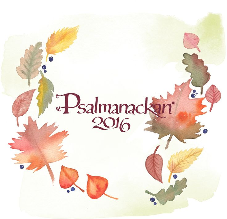 My calendar for 2016; Psalmanackan