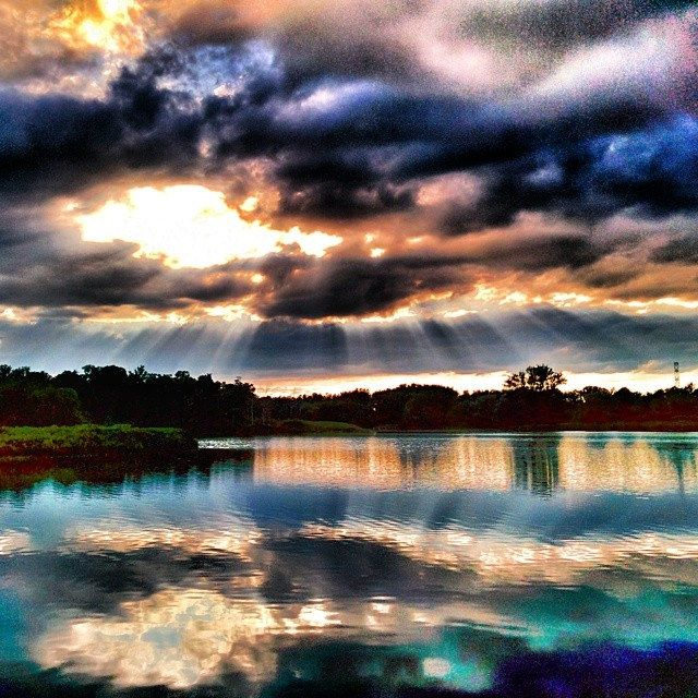 Sunset over Columbia Lake