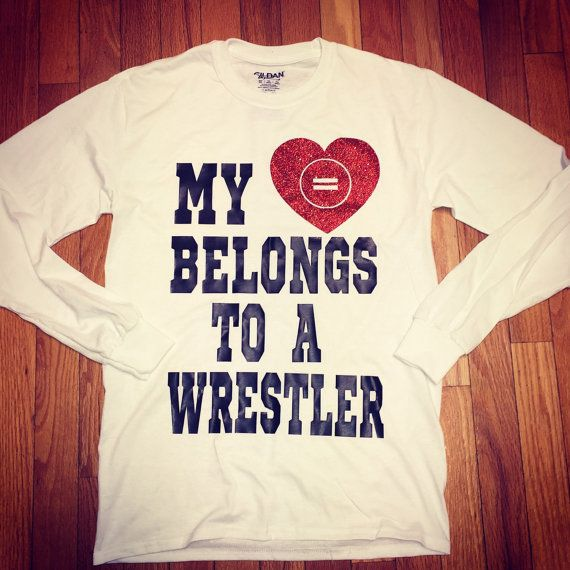 My heart belongs to a wrestler by StudioChaseDesigns on Etsy