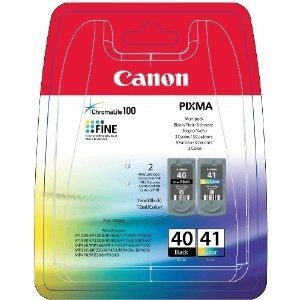 Black Friday Canon PG-40/CL-41 (PG40/CL41) OEM Genuine Inkjet/Ink Cartridges Combo (One each: PG-40BK, CL-41Clr) 2 Pack - Retail from Canon