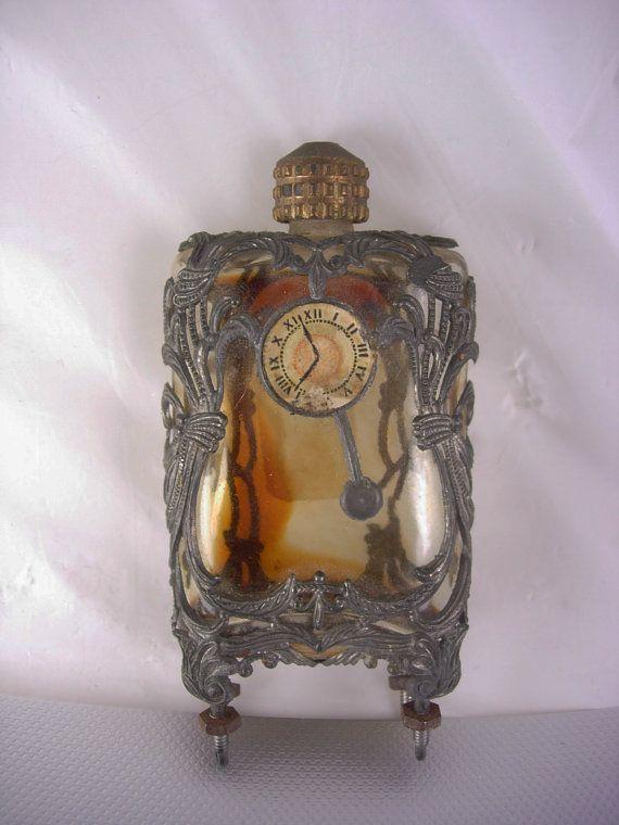 Antique boudoir Clock perfume Art Nouveau by vintagesparkles