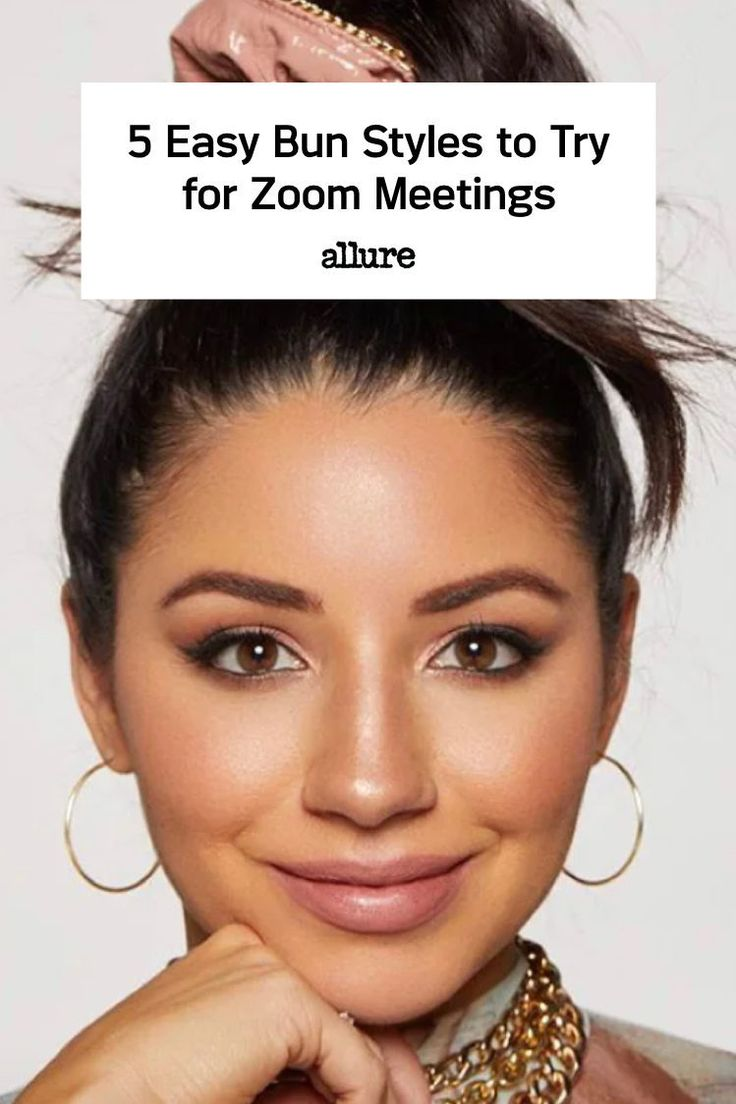 5 easy bun styles to try for zoom meetings bun styles