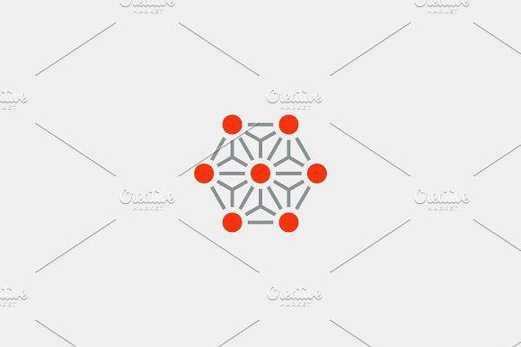 molecule atom logo by Bureau on @creativemarket