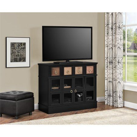 Ryder Apothecary TV Console for TVs up to 42 inch, Black