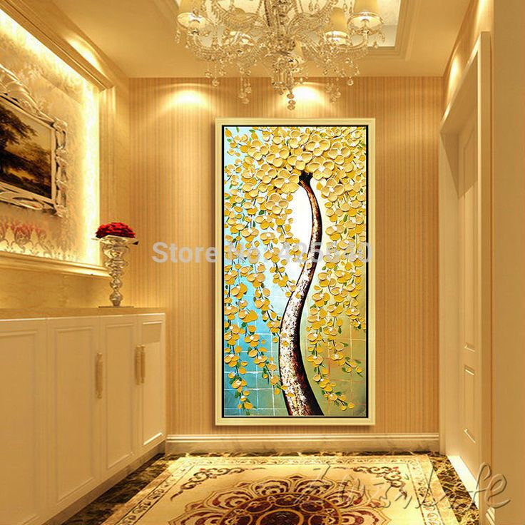 76 best Hand Painted Tree Oil Painting Colorful Wall Art images on ...
