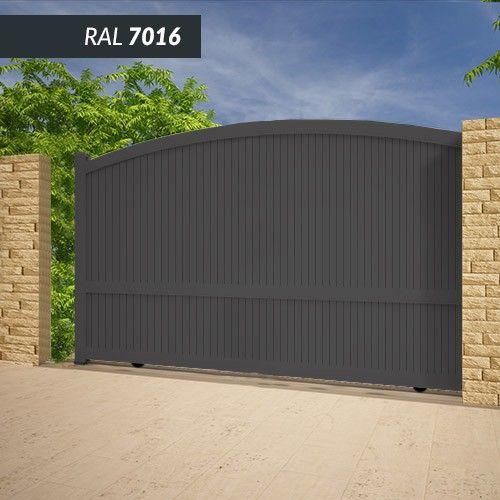 Portail EMALU ADRIATIQUE coulissant -fabrication 100% aluminium. Une gamme de couleurs disponible BLANC - GRIS ANTHRACITE - BLEU - BORDEAUX - VERT - NOIR
