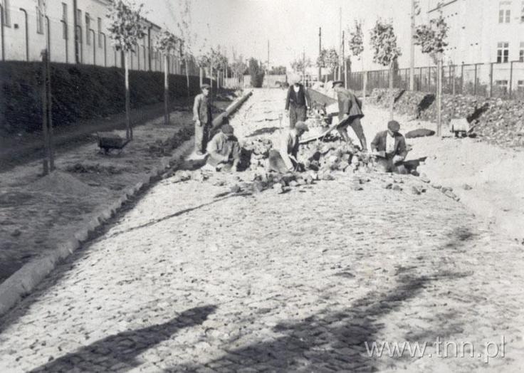 ul. Godebskiego 1938 r. w stronę al. Racławickiej.