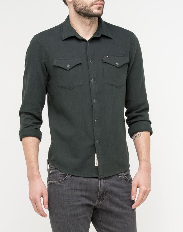 Lee Western Shirt  | Dk Bottle Green