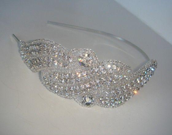 rhinestone headband crystal headband wedding by luciabella1