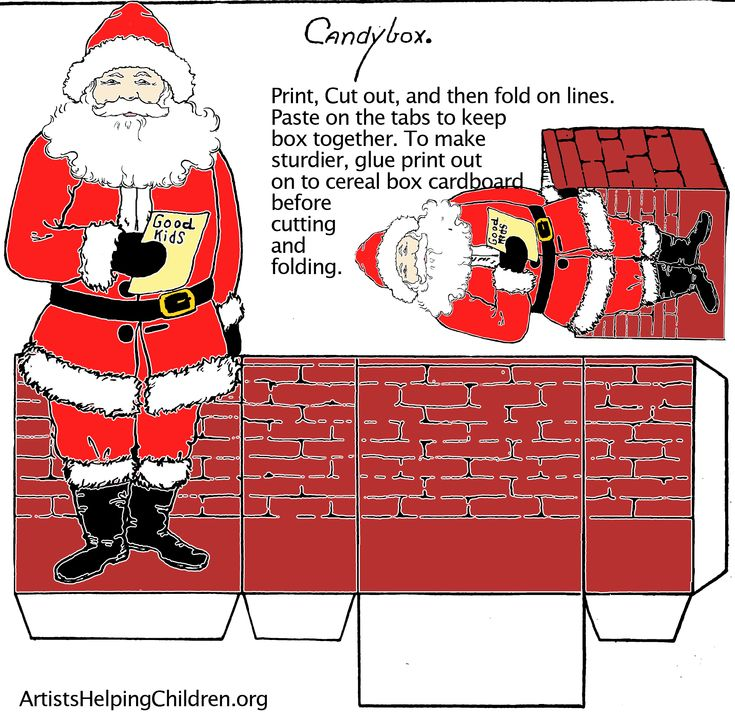 128 best Christmas Printable Boxes,Bags,Envelopes \ Ideas For Gift - christmas paper template