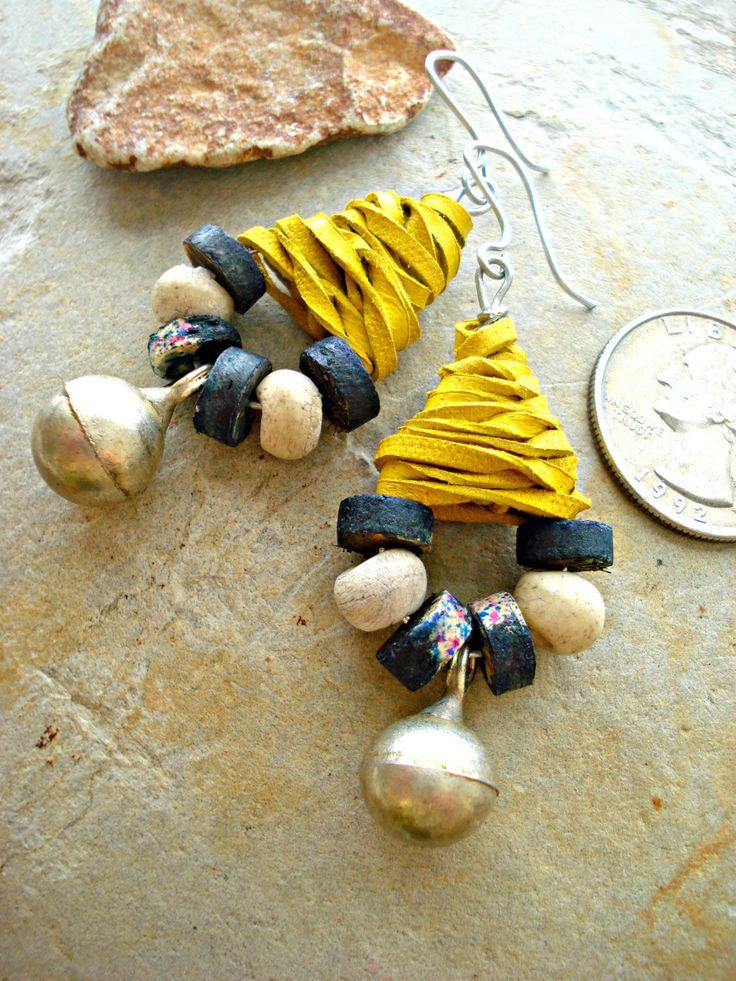 Boho Earrings  Boho Jewellery  Ethnic Jewellery by HandcraftedYoga, $33.00