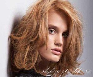Стрижка Градуированное Каре на средние волосы