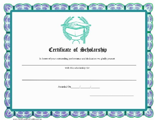 18 best School Certificate images on Pinterest Free stencils - sample scholarship certificate