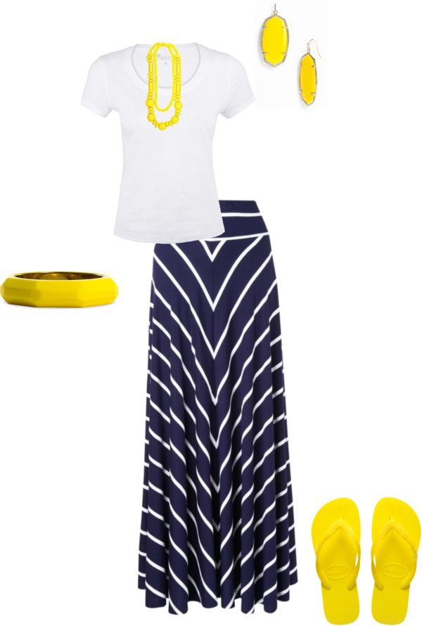 """Yellow & Navy"" by hannahtay96 ❤ liked on Polyvore"