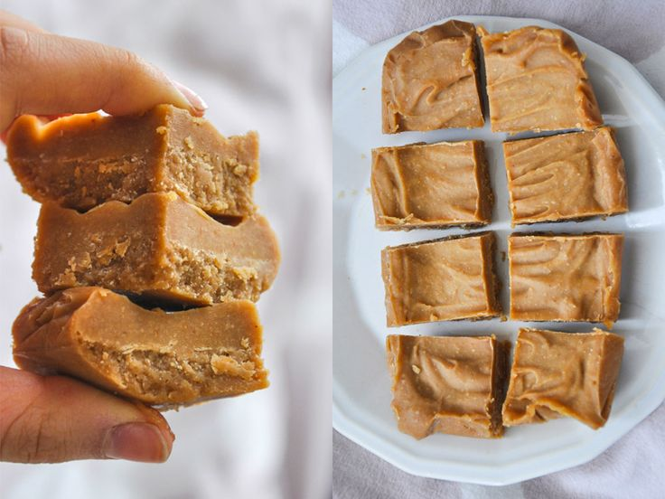 Healthy fudge with peanut butter
