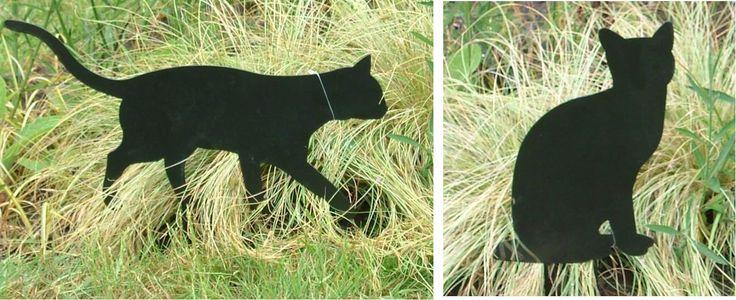Pair of Decorative Black Cat Metal Garden Ornaments #CatToys