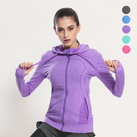 Women's Running Jackets 2017 Spring New Long Sleeve Running Jacket Yoga Gym Fitness Tight Tops Quick-Dry Breathable Sports Coat