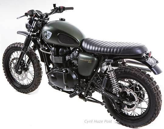 A Triumph Scrambler In Dirt Bike Clothing