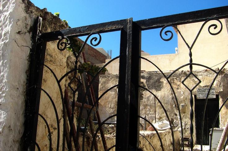 Forging grade steel gate to an abandoned house, 'Gaviotika' in 'Paleochora' south-west Crete. http://www.kritiguide.com