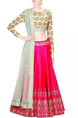 Kapadewala Pink Bangalore Silk Embroidered Semi stitched Free Size XXL Lehenga Choli For Women