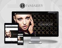 Responsive website Evagarden makeup