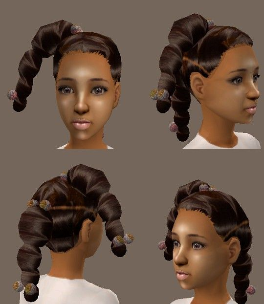 Sims 2 Hairstyles: Realistic Ethnic Hair (Girls And BabyGirls