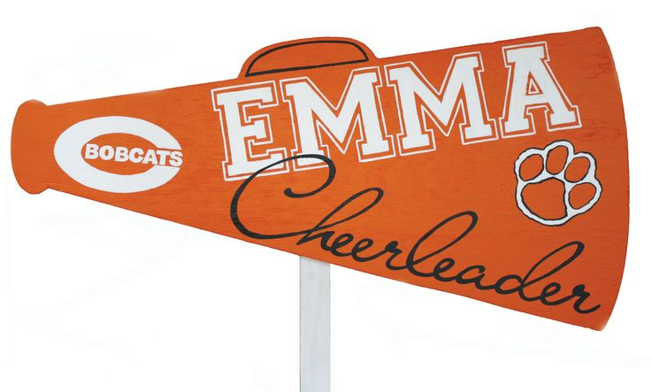 cheerleading yard sign