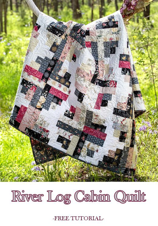 River Log Cabin Quilt (Quilting Land)