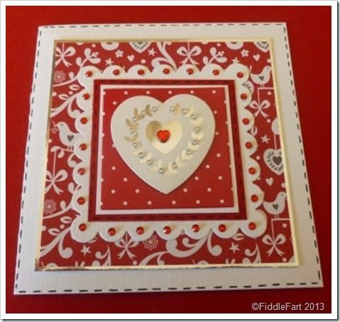 Christmas card using Wilkinsons Craft papers and foil gift tags