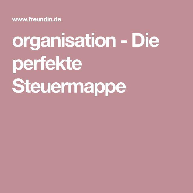 organisation - Die perfekte Steuermappe