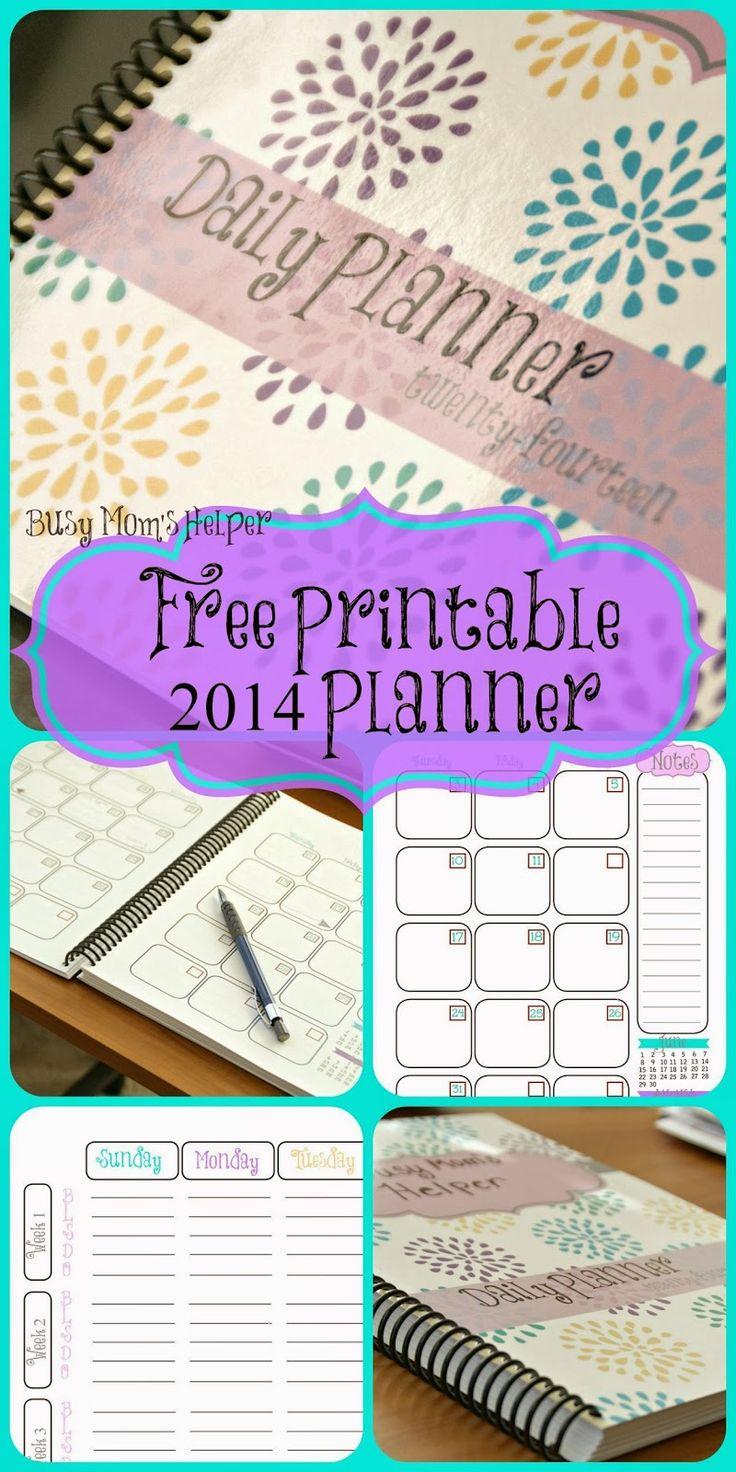FREE Printable 2014 Planner via Busy Mom's Helper