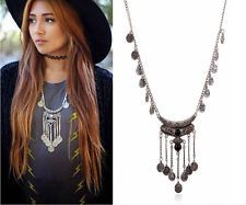 Style Ethnic Tribal Boho Beads Coin Fringe Necklace Belly Dance Bohemian Jewelry