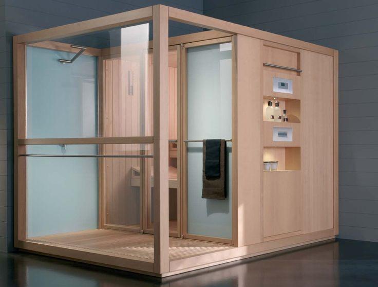 Sauna-Hammam-Douche, Sasha de Jacuzzi® un véritable centre Wellness - faire un sauna maison