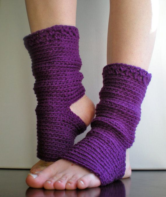 Crochet Patterns Yoga Socks : PATTERN: Yoga Socks, just looks like regular socks with no heel or toe