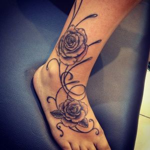 Flower Tattoos have done in Marmaris Ink Tattoo & Piercing Studio