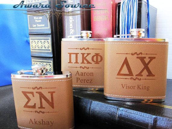 College Flask Sorority Flask Fraternity Flask by AwardSourceLLC, $13.50