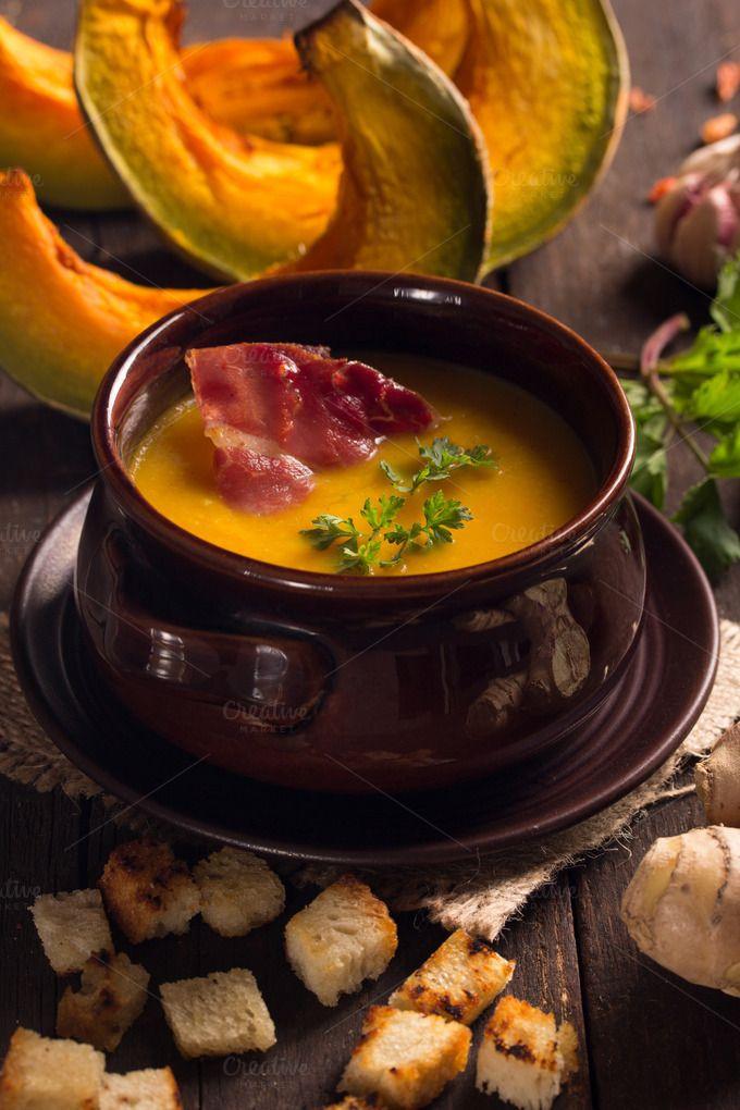 pumpkin soup by peterzsuzsa on @creativemarket