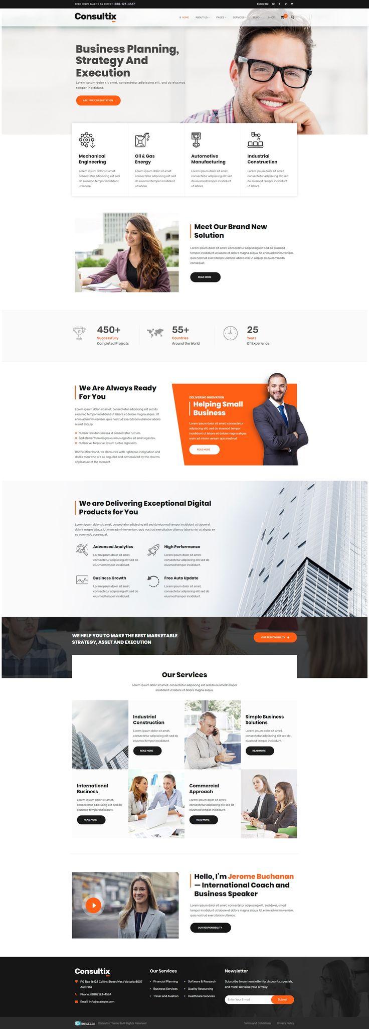 Consultix — Business Consulting WordPress Theme Stylelib