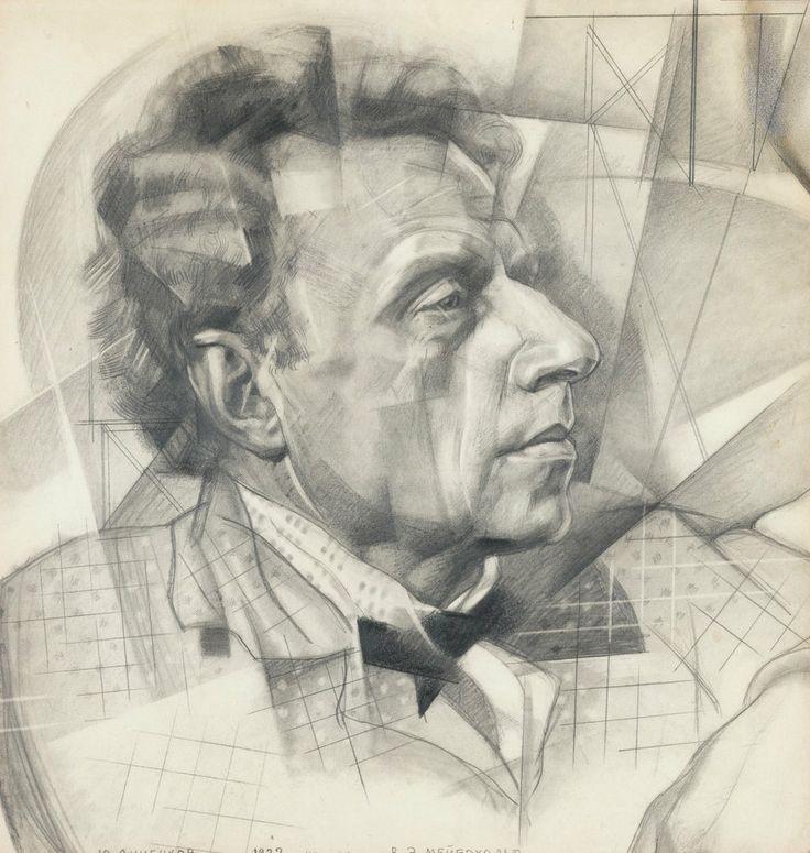YURI ANNENKOV (1889-1974).  PORTRAIT OF VSEVOLOD MEYERHOLD, 1922, pencil on paper,  44х42.5cm.